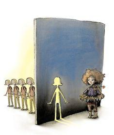 Om skolegang i DBMagasinet Lisa, Hello Goodbye, Art Et Illustration, 2d Art, Paper Cutting, Cool Art, Doodles, Drawings, Inspiration