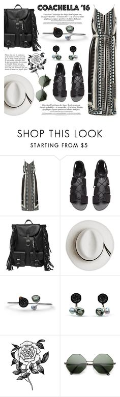 """""""Hot Coachella Style"""" by littlehjewelry ❤ liked on Polyvore featuring River Island, H&M, Yves Saint Laurent, Calypso Private Label, Anja, Forever 21, contestentry, pearljewelry, littlehjewelry and bestofcoachella"""