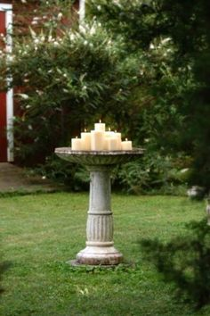 bird bath candle holder - Two Women and a hoe web site