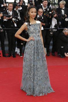 Zoe Saldana - Blood Ties Premieres in Cannes 2013