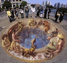 3D-Street Art Photos