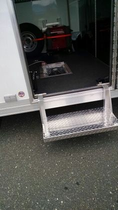 Electric power wench racing race car trailer ideas for Motorized rv entry steps