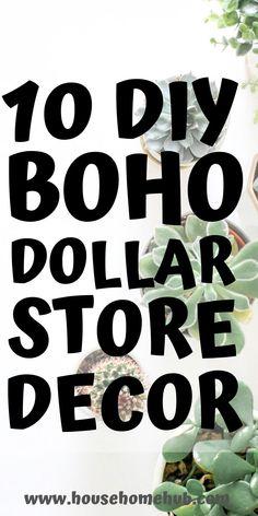 10 DIY Boho Dollar Store Decorations - House Home Hub Looking for some DIY boho decor Well I have yo Easy Diy Room Decor, Diy Home Decor On A Budget, Unique Home Decor, Dyi Wall Decor, Luxury Home Decor, Diy Wall, Luxury Homes, Wall Art, Boho Room