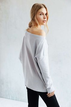 Truly Madly Deeply Jennie Off-The-Shoulder Sweatshirt - Urban Outfitters