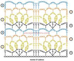 canasta con aplicación de cenefa tejida a crochet