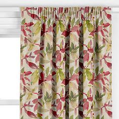John Lewis & Partners Alexa Made to Measure Curtains or Roman Blind, Pink Curtains Or Roman Blinds, Made To Measure Curtains, John Lewis, New Homes, Living Room, Pink, Home Decor, Bed, House