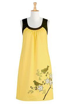 Sunny garden shift dress