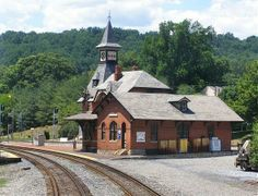 Point of Rocks Train Station This Victorian train station was built in 1873 and added to the National Registry of Historic Places in The tracks south towards Washington, D. Baltimore And Ohio Railroad, Old Train Station, Maryland, Rocks, Cabin, Architecture, House Styles, Building, Places