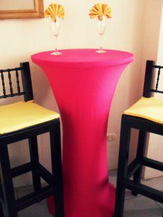 mantel de licra para mesas cocteleras altas