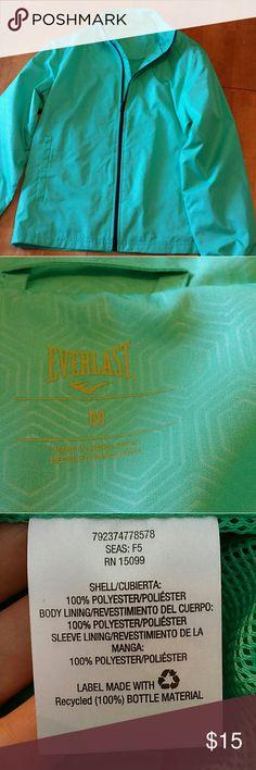 Light Everlast jacket. Womens Light Everlast zip up jacket, mint color, Size Medium. Everlast Jackets & Coats