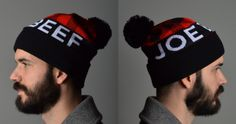 Pop on this spiffy knit and baubled Joe Beef hat and face the Montreal winter in style.