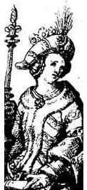 Zofia Holszańska - Jagiello's 4th wife Sophia of Halshany (1405 - 1461). Queen of Poland from 1422 until 1434. She was the fourth wife of Wladyslaw II, who she had two sons with.