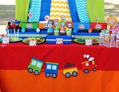 TRAIN PARTY- TRAIN Birthday Party - Train PHOTO PROPS - Boy Party
