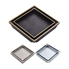 49.50$  Watch here - http://ali2n1.shopchina.info/go.php?t=32792453084 - Free Shipping 10cm Square Bathroom Brass Shower Drains Floor Drain Trap Waste Grate Invisible Drainer Brushed Chrome Antique  #bestbuy