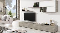 Sorteo deco: gana un mueble de comedor Living Room Shelves, Living Room Tv, Open Plan Kitchen Living Room, Tv Wall Decor, Tv Unit Design, Argos, Living Room Designs, New Homes, Modern Design