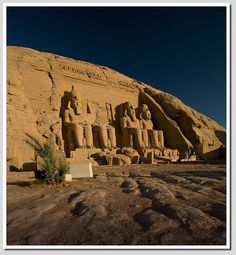 Abu Simbel this was moved to higher ground~or to be lost forever due to the dam