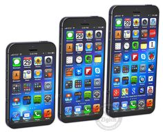 iPhone 6 Concepts Surface - Speculating The Future... larger screens for all versions by moving the home button to the side...