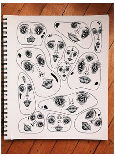 Weird Drawings, Trippy Drawings, Psychedelic Drawings, Cool Art Drawings, Weird Art, Art Drawings Sketches, Indie Drawings, Drawing Ideas, Hippie Drawing