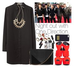 """""""Night out with One Direction."""" by welove1 ❤ liked on Polyvore featuring T By Alexander Wang, Giuseppe Zanotti, Topshop, Hive & Honey, ASOS, Bobbi Brown Cosmetics and MICHAEL Michael Kors"""