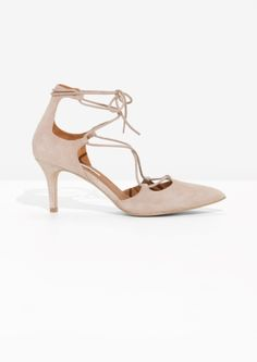 & Other Stories | Suede Lacing Pumps