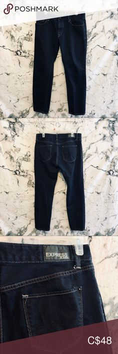 In perfect condition Express Jeans Express Jeans, Colored Denim, Dark Denim, Black Jeans, Man Shop, Pants, Closet, Things To Sell, Style
