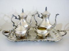 F.B. Rogers Silver Plated Tea/Coffee Set 6 pieces by oldandnew8