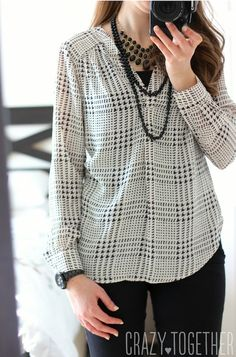 Dear Stitch Fix stylist, Thank you so much for the Ackley Houndstooth Print Blouse from 41Hawthorn. It is such a classic piece and JUST my style! xoxo Maria #stitchfix