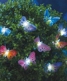 Versicolor LED Butterfly String Lights #zulily #zulilyfinds