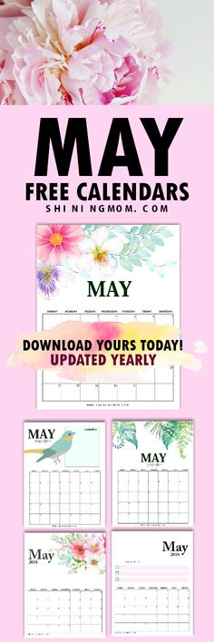 Get your FREE May calendar from this amazing set and plan your month ahead! #May #Maycalendar #calendar #freeprintables #shiningmomprintables