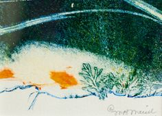 Marybeth Maisel, #12 of 100 artists in Flash Art Show. (gelatin plate monotype)