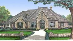Plan 48098FM: Angled Nook House Plan with Guest Room