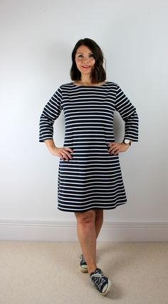 Tilly and The Buttons breton striped Coco dress sewing pattern review