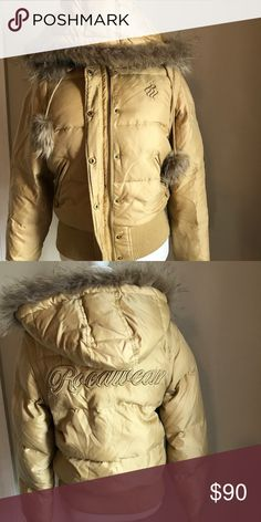 Gold Roca Wear coat/vest Arms and hood can be removed to wear as vest Rocawear Jackets & Coats