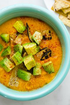 Sweet Potato Soup (in a Flash!) Avocado on Top Healthy Soup, Healthy Recipes, Healthy Foods, Vegetarian Recipes, Ground Turkey Nutrition, Quick Easy Vegan, Chilled Soup, Clean Eating, Healthy Eating