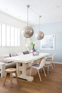 interiors, interior design, home decor, decorating ideas, dining room inspiration, white spaces