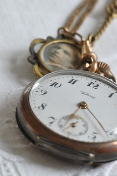 Gorgeous close up photo of an old pocket watch!