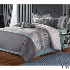 Euphoria Embroidered 8-piece Comforter Set - Overstock Shopping - Great Deals on Comforter Sets
