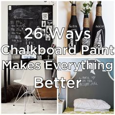 26 Beautiful Ways To Use Chalkboard Paint