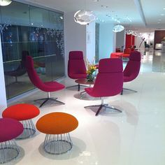 Love the colors! @KI Furniture #neocon13 #neoconography Thank you #shawngreen and team! Blu Sky collection