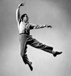 Gene Kelly in midair