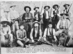 Texas Rangers co. D, 1894, John Hughes seated far right