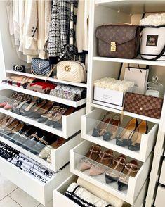 Master Closet, Closet Bedroom, Dream Closets, Closet Designs, Closet Organization, Organizing, Organization Ideas, Shoe Organizer, Replica Handbags