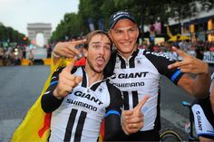Gallery: 2014 Tour de France, stage 21 - John Degenkolb and Marcel Kittel were happy to finish the Tour and even happier to claim victory in a chaotic sprint finish on the final stage. Photo: Tim De Waele | TDWsport.com