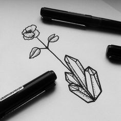 Working on the first sketch for Patricia's tiny 'crystal flower' design. …