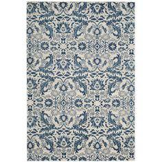 Lark Manor Montelimar Ivory / Blue Area Rug & Reviews | Wayfair