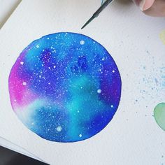 Ana Victoria Calderón Look At The Sky, Space Theme, Color Of Life, Astronomy, Cosmic, Illustration Art, Illustrations, Watercolor Art, Victoria