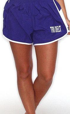 Riffraff | greek athletic shorts [Delta Delta Delta] TRIDELTA TRIDELTA TRIDELTA! Cute shorts and they have almost every sorority...