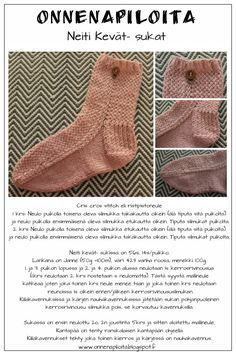 Lifestyle- blogi, sisältää juttuja puutarhasta, käsitöistä, sisustamisesta ja hyvinvoinnista. Criss Cross, Knit Crochet, Socks, Knitting, Sewing, Knits, Lifestyle, Fashion, Hosiery