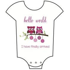 """Hello World"" Babygrow"