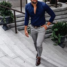 Mens Fashion Smart – The World of Mens Fashion Trajes Business Casual, Business Casual Outfits, Office Outfits, Gentleman Mode, Mode Man, Formal Men Outfit, Style Masculin, Stylish Mens Outfits, Stylish Man